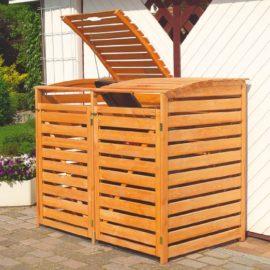 Muelltonnenbox aus Holz