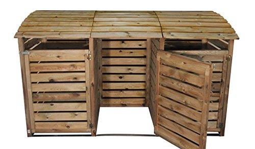 m lltonnenbox aus holz f r 3 tonnen bis 240 liter m lltonnenbox. Black Bedroom Furniture Sets. Home Design Ideas