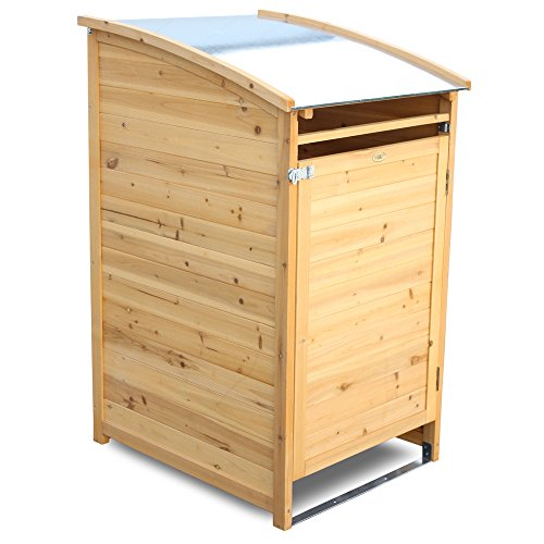m lltonnenverkleidung holz f r 1 tonne bis 120 liter m lltonnenbox. Black Bedroom Furniture Sets. Home Design Ideas