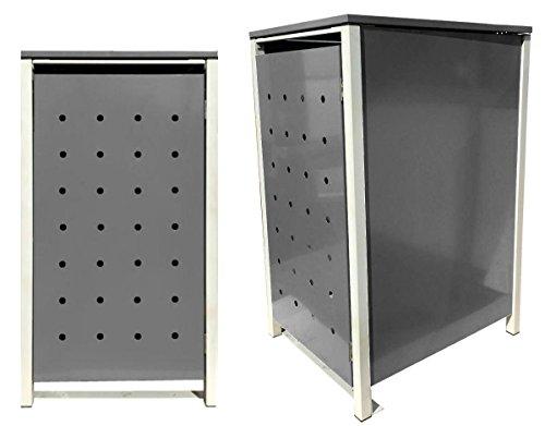 Mulltonnenbox Aus Metall Fur 3 Tonnen Je 240 Liter Mulltonnenbox