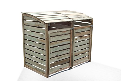 m lltonnenbox aus holz f r 2 tonnen bis 240l m lltonnenbox. Black Bedroom Furniture Sets. Home Design Ideas